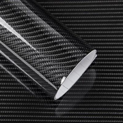 Selbstklebend Carbon Folie Auto KFZ Klebe Folie Glanz Matt Schwarz 3D 4D HY