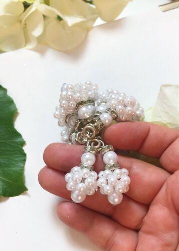 1 Pair Latest Indian Mini Bead Cluster Silver Latkans lehenga blouse Dupattas