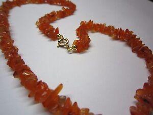 Stein Kette Achat Orange Mit Federring Verschluss In Silber 925
