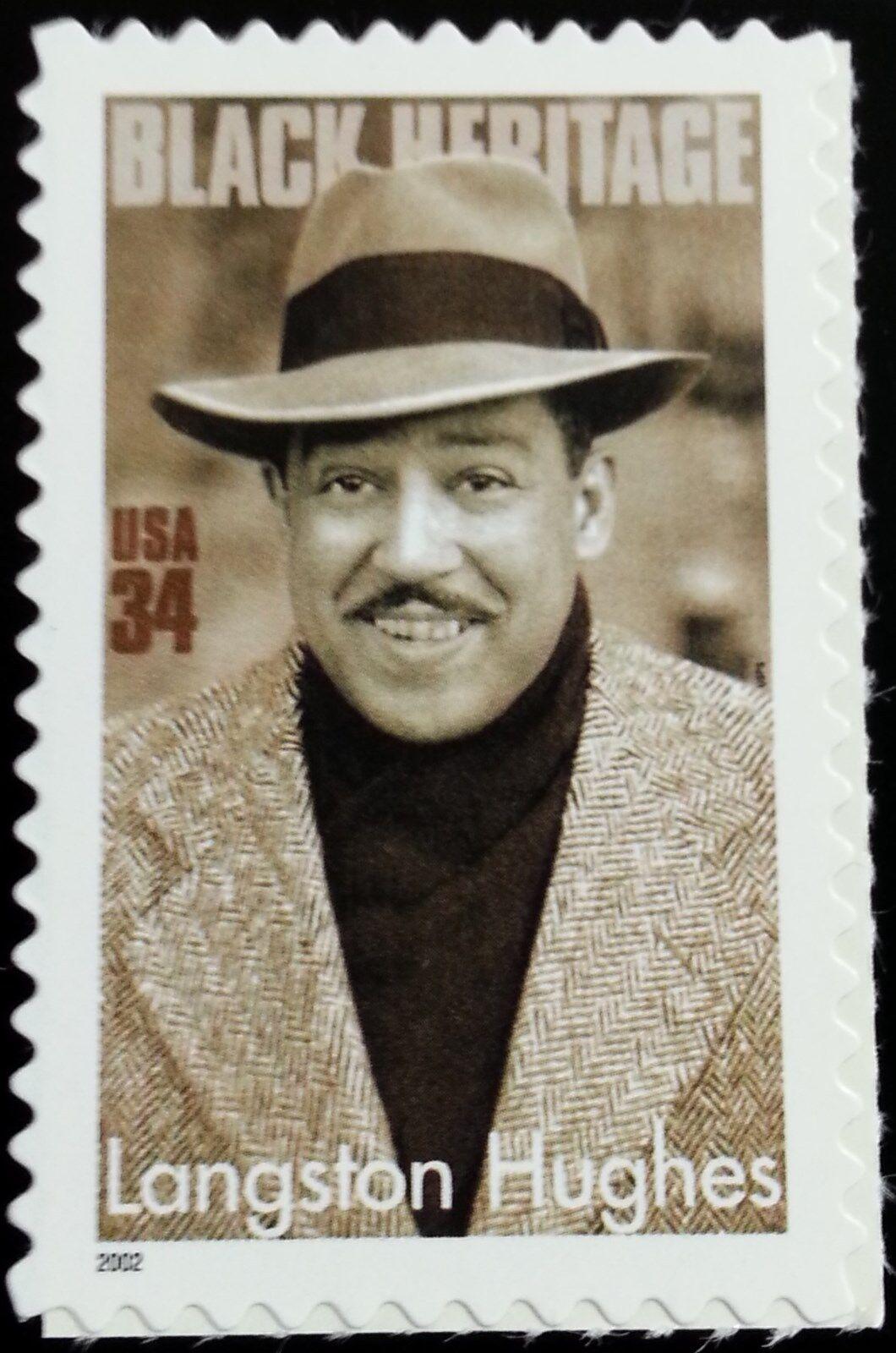 2002 34c Langston Hughes, Writer, Black Heritage Series