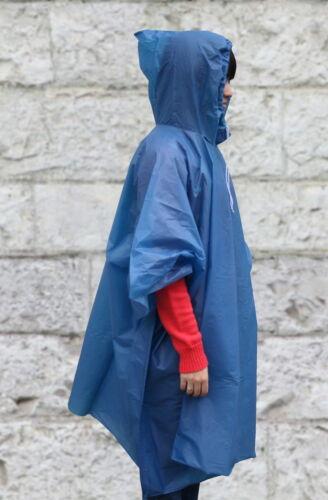 Rainponcho Rain Poncho Rainjacket with Hood and Drawstring