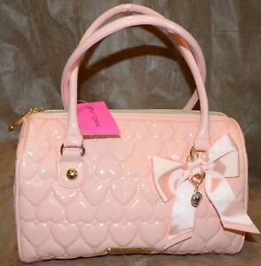 e3e03924e8 NWT Betsey Johnson Speedy Satchel Quilted Hearts Be Mine Blush Pink ...