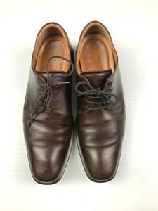 ECCO-Mens-Leather-Casual-Comfort-Lace-Up-Shoes-Size-47-13-US-Brown