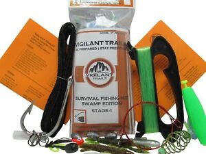 Vigilant Trails Pre-Packed Survival Fishing Kit Swamp Edition: Stage-1