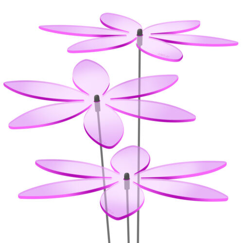 3 pièces Sunplay Capture ø20cm Suncatcher Jardin Connecteur Lys Violet