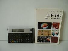 Calculatrice Hewlett Packard HP-15C + Manuel d'utilisation en Français
