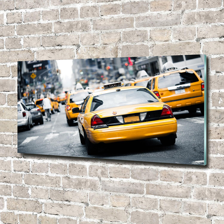 Wandbild aus Plexiglas® Druck auf Acryl 140x70 Fahrzeuge Taxis New York