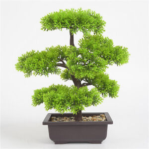 Simulation Fake Potted Bonsai Tree Artificial Plant Desk Office Decor Protable Ebay