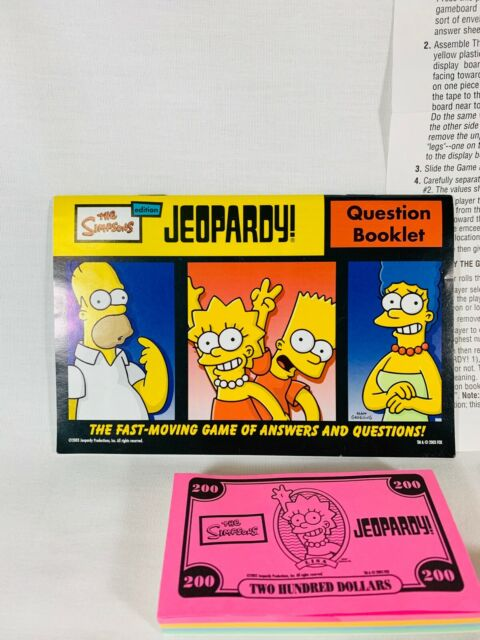 The Simpsons Edition Jeopardy Board Game Pressman 2003