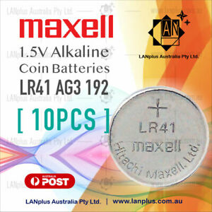 Maxell-10X-AG3-1-5v-LR41-AG3-L736-392-SR41-192-Alkaline-Button-Coin-Battery