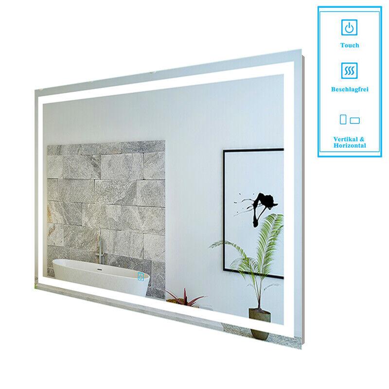 Badspiegel mit Beleuchtung 80 - 160 cm Led Spiegel Touch Heizung Kaltweiß ☐▆