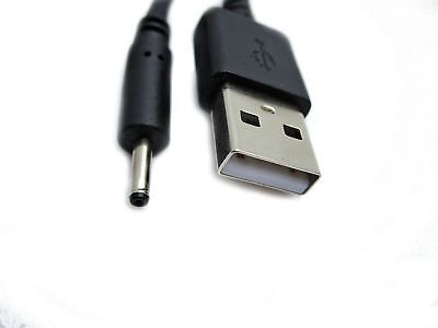 2m Usb Black Charger Cable For Babymoov Babyphone Easy Care Bc-3280 A014011