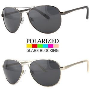 d6a25d8829 Image is loading Retro-Aviator-Polarized-Sunglasses-Spring-Hinge-for-Men-