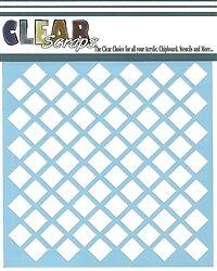 "Clear Scraps 6"" Stencil ""Diamonds"""