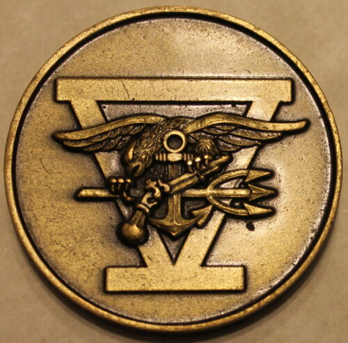 Naval Special Warfare SEAL m 5 Navy Challenge Coin Five Original Heavy V1