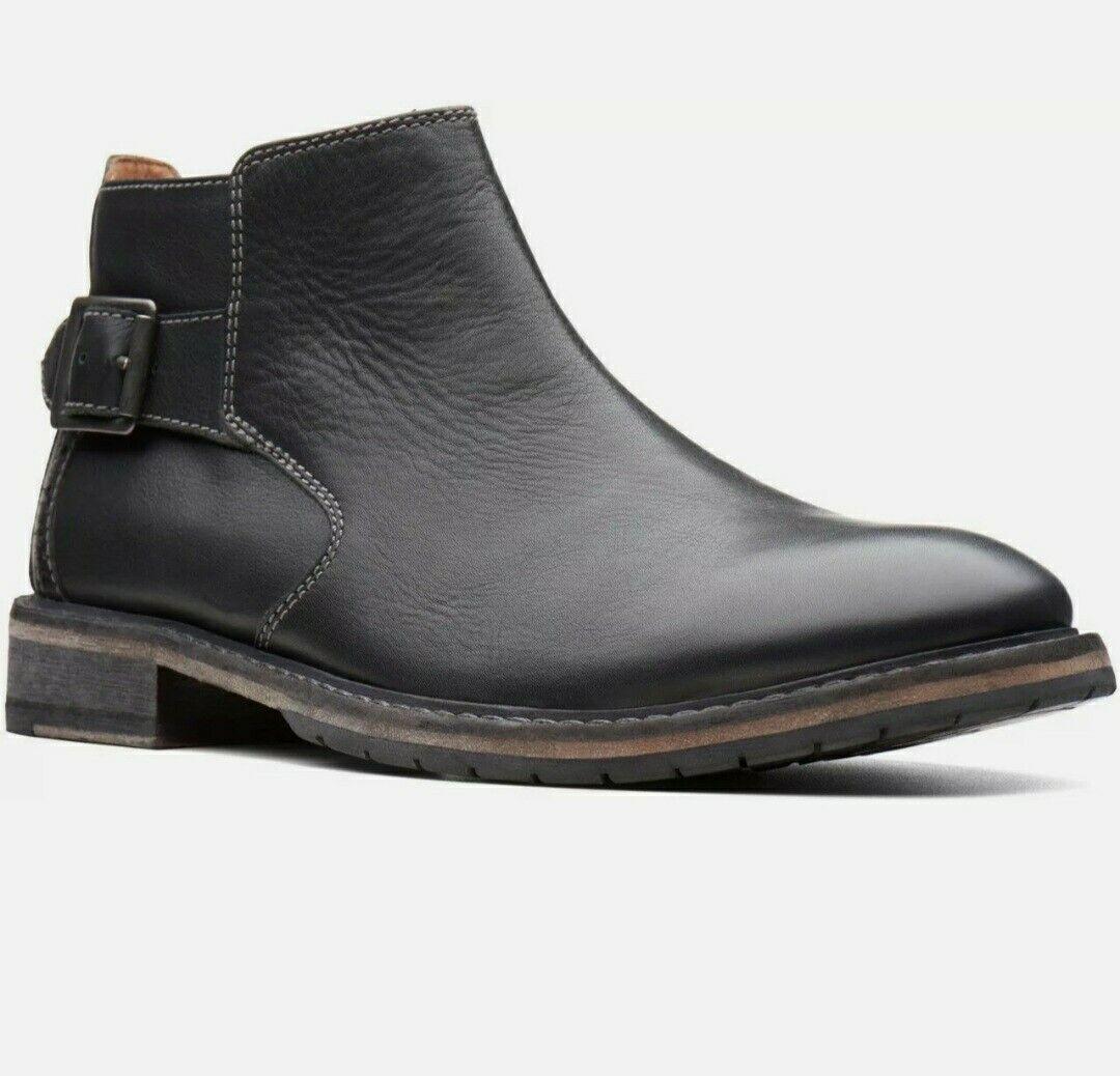 Clarks Men's Clarkdale Remi Black Leather Boots UK Size 7 G EU 41