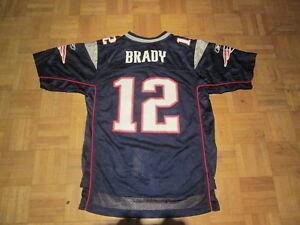 Tom Brady  12 New England Patriots NFL Reebok Jersey Youth Large Age ... 536726187