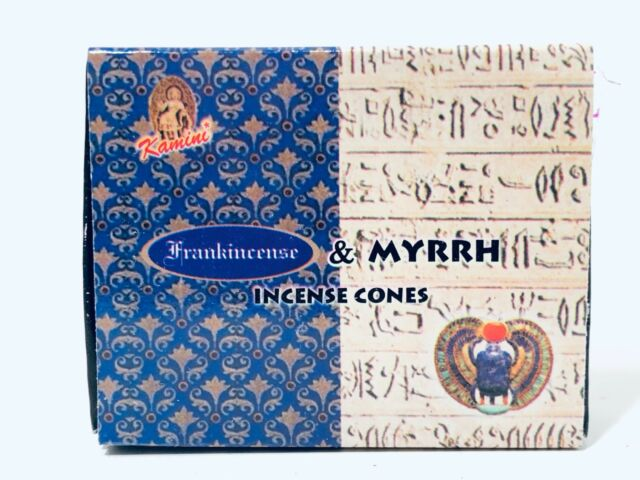 Frankincense and Myrrh Incense Cones x 150 cones (HANDMADE) KAMINI