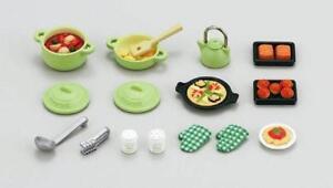 New Sylvanian Families Calico Critters Dolls Animals Cooking Set ka-410 Japan