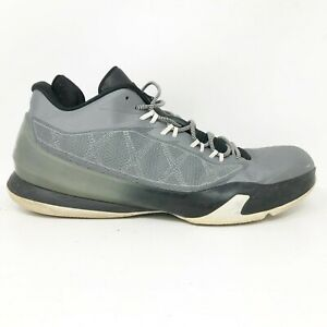 Nike-Mens-Air-Jordan-CP3-VIII-684855-003-Gray-Black-Running-Shoes-Lace-Up-Sz-12