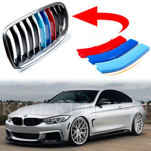 fit bmw 4 series f32 f33 14-17 kidney grille m sport 3 color cover