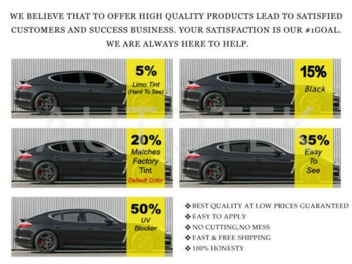 PreCut All Sides Window Film Any Tint Shade /% for Honda Accord Sedan 2018-2020