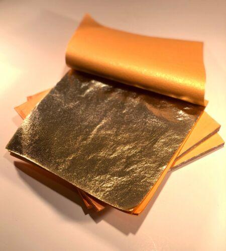 """Imitation Gold Leaf Feuille Papier Art Craft feuilles volantes 6 1//4/"""" x6 1//4/"""""""