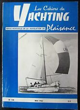 BATEAUX VOILES PLAISANCE LES CAHIERS DU YACHTING N° 138 de 1963 PLAN SLOOP 6 M