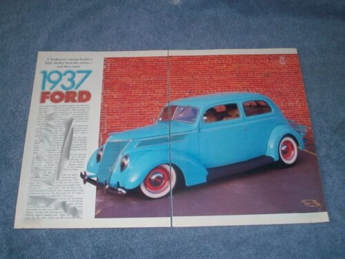 "1937 Ford Tudor Sedan Hot Rod Article ""A Northwest Veteran Builds Little Shelter"