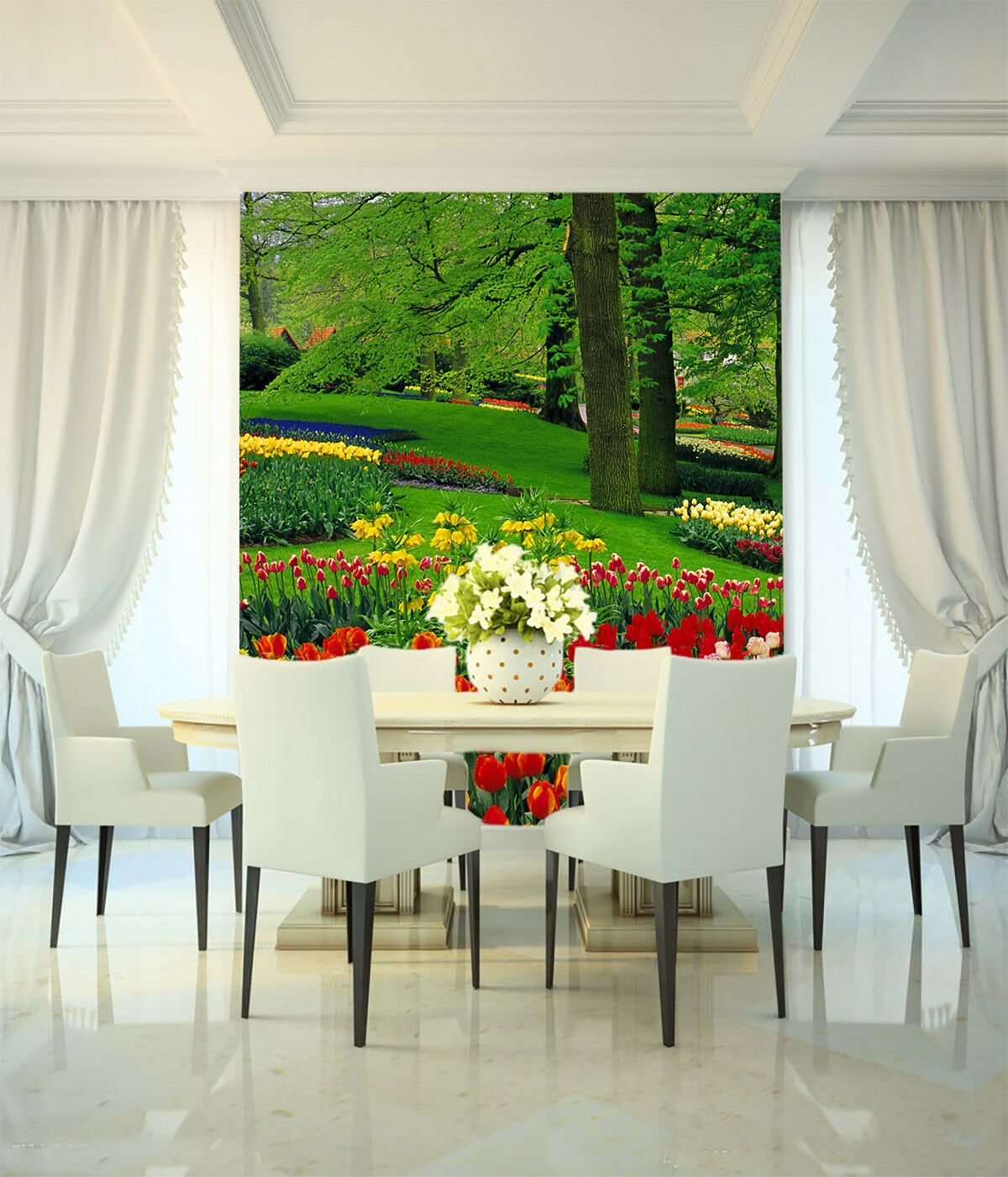 3D Flower Park 610 Wallpaper Murals Wall Print Wall Mural AJ WALLPAPER UK Lemon