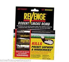 Revenge Rodent Smoke Bombs (8-Pack) Kills Rats Moles Skunks Gophers WoodChucks