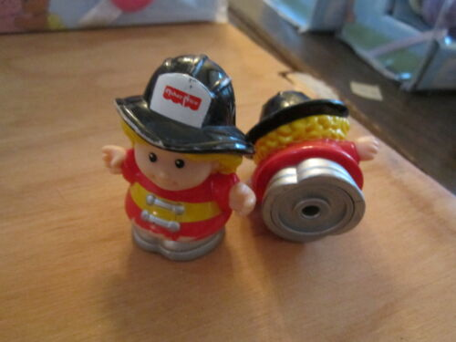 Fisher Price Little People firefighter fire woman lady girl cheryl town city toy