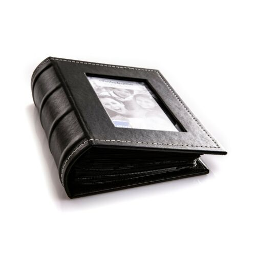 Kenro Black Leather Look Small Photo Album for 80 Photos 6x4 inch//10x15cm