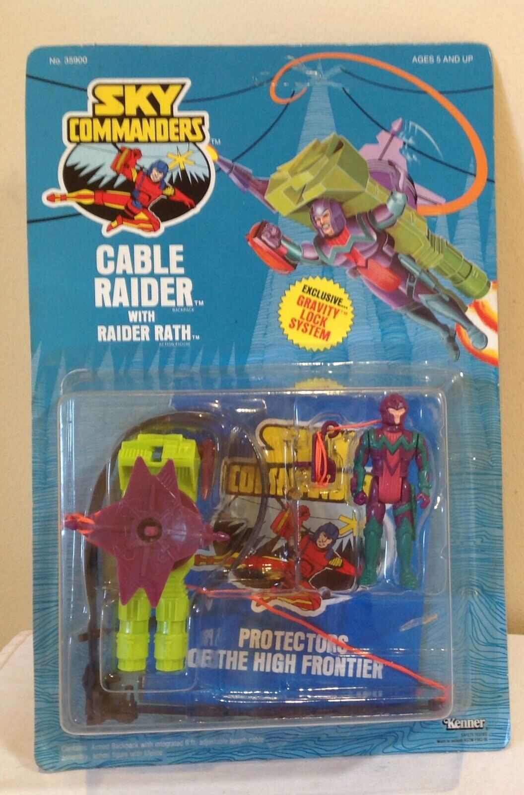 SKY COMMANDERS CABLE RIDER with Raider Rath 1987