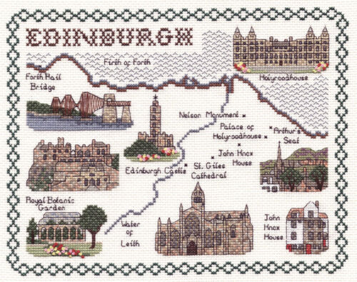 Counted Cross Stitch Map Kits British Cities
