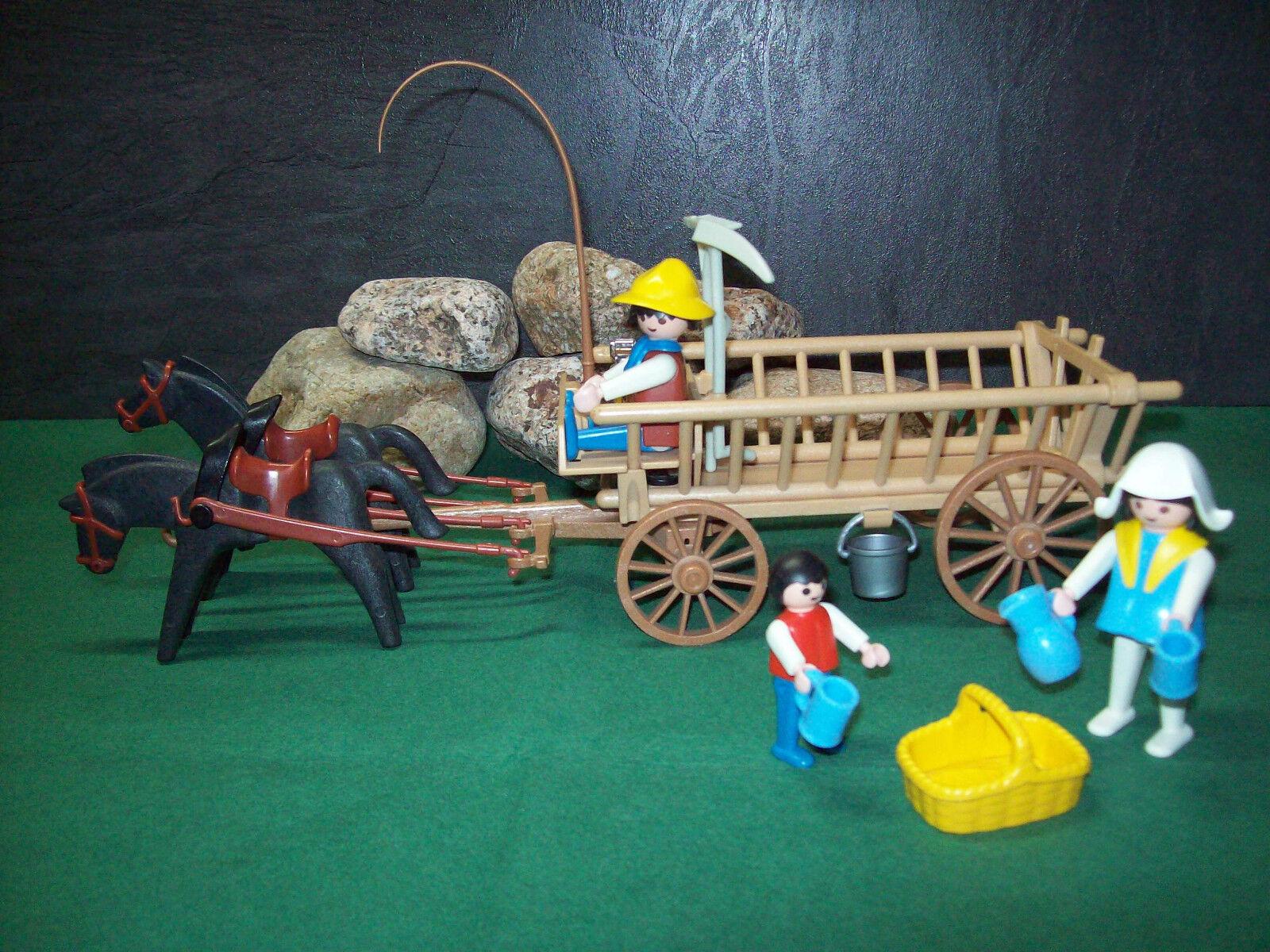 Playmobil Pferde-Leiterwagengespann 3503-A 1986, ohne OVP  |