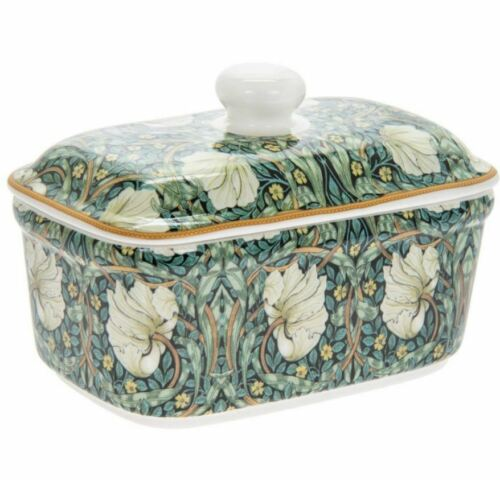 WILLIAM MORRIS PIMPERNEL FINE CHINA BUTTER DISH WITH LID NEW AND GIFT BOXED *