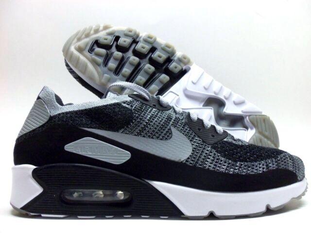sports shoes e51b5 7cf70 Nike Air Max 90 Ultra 2.0 Flyknit Black Wolf Grey Platinum 875943-005 Size  13