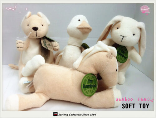 Bamboo Plush Soft Toys 8-9 FAMILY of 4--Top quality!- Enviromental friendly