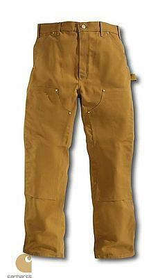 CARHARTT braun Hose B01 Double Front Arbeitshose US FIT