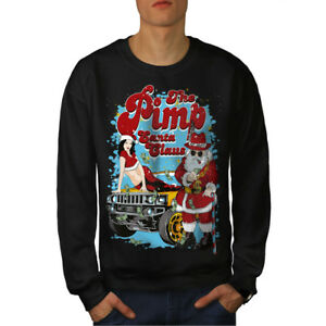 Santa-Claus-Hot-Christmas-Men-Sweatshirt-NEW-Wellcoda