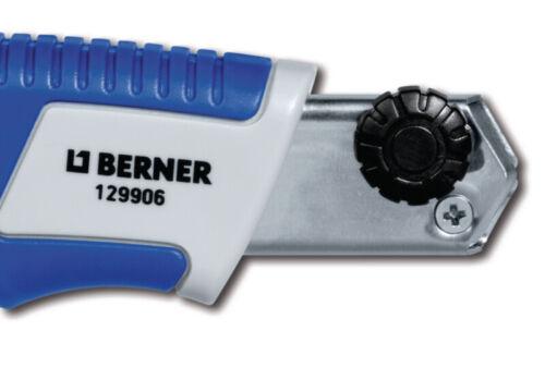 5 Abbrechklingen 1 Stück Berner Cuttermesser 2-K Griff 18mm inkl