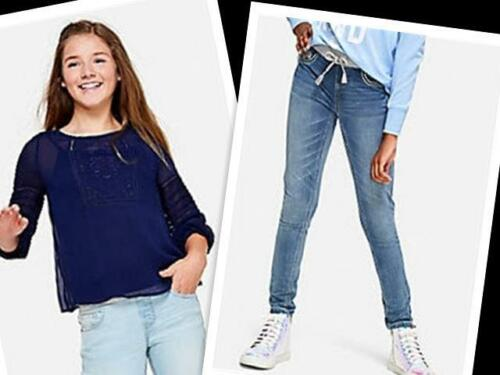 NWT Justice Girls Embroidered Peasant Top//Embellished Jeggings Size 8 10 12