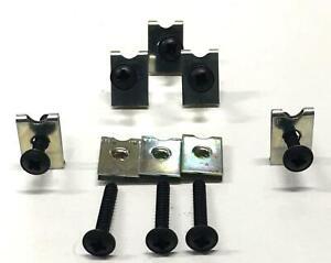Spire-Clips-Car-Speaker-Door-Panel-Fixtures-Fitting-U-Clips-Self-Tappers-Screws
