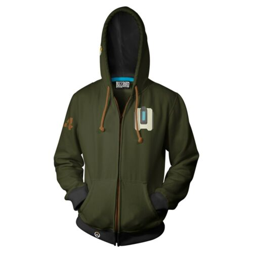 Official Overwatch Bastion Zip-Up Hoodie New