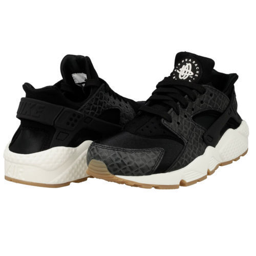 Nike Air Huarache Run PRM Women's Black Gum 683818 011 SZ 7