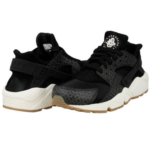 2f87d920a8465 WMNS Nike Air Huarache Run PRM Premium Croc Print Black Sz 7 683818-011 for  sale online