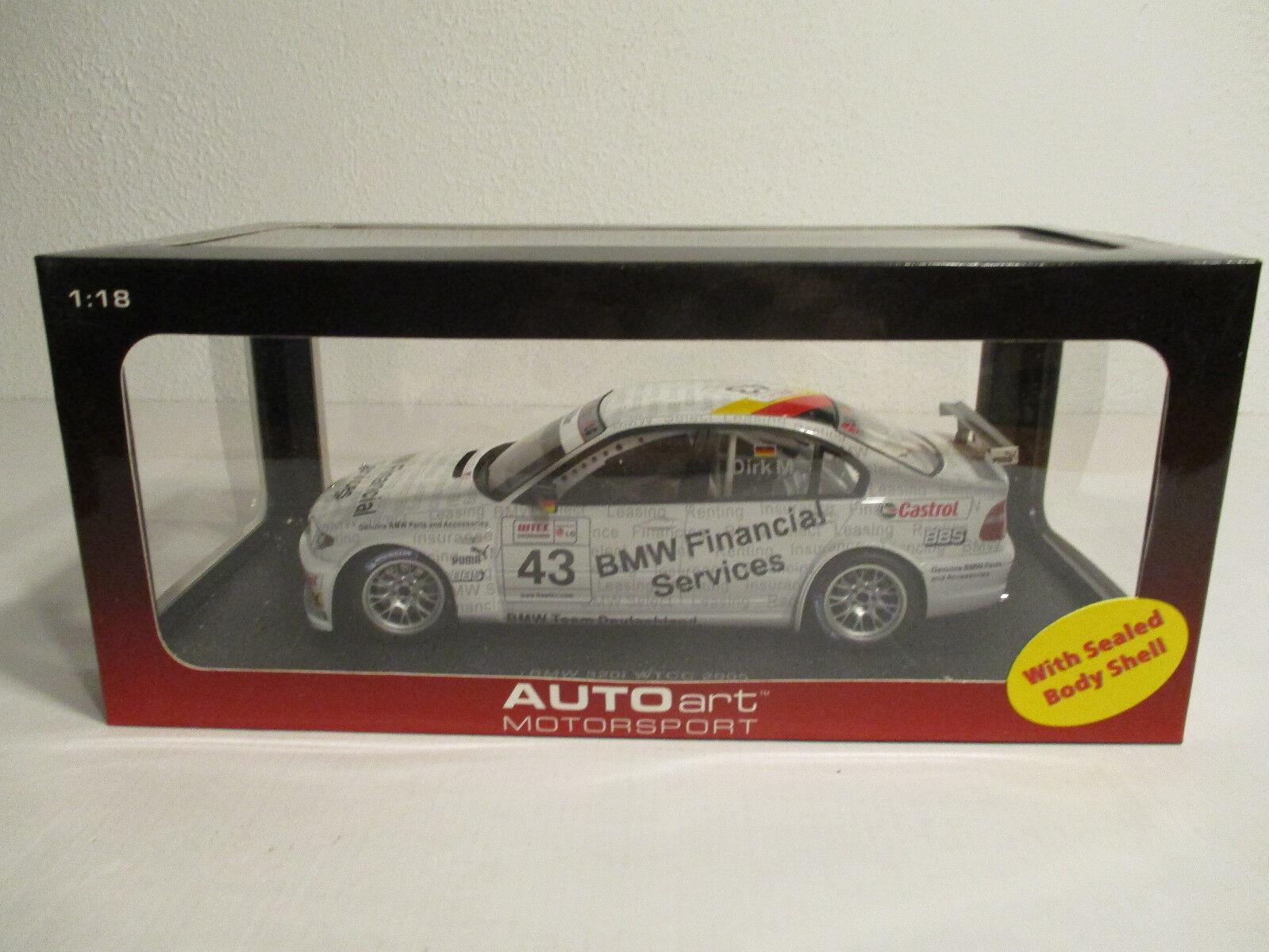(Gok) 1 18 Autoart bmw 320i WTCC 2005 D. Müller nuevo embalaje original