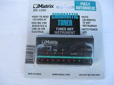 Free Shipping New Matrix SR-1050 Chromatic All Instrument Tuner