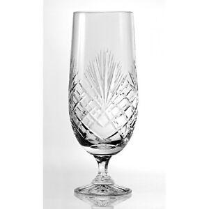 Beer-Pilsner-Footed-Glass-1Pint-Fully-Cut-24-Lead-Crystal-Dishwasher-Safe-121MJ
